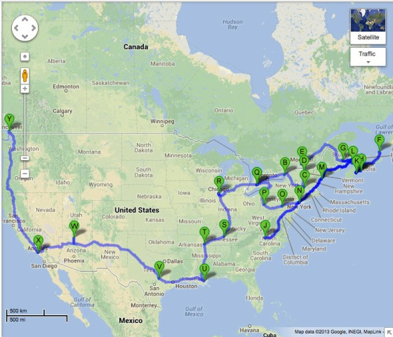 The Planned Road Trip