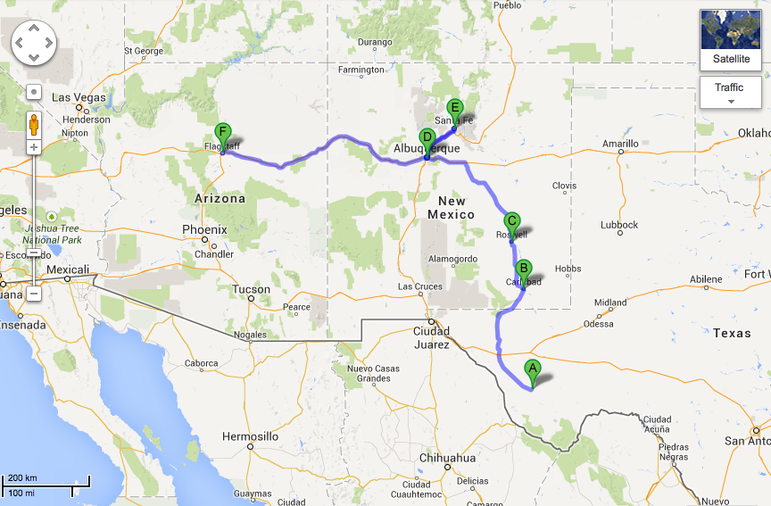 Albuquerque To Santa Fe >> Marfa To Carlsbad To Roswell To Albuquerque To Santa Fe